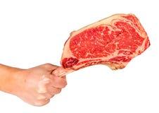 Prime rib steak cut. Prime rib steak isolated on white background Stock Photos