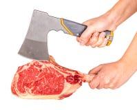 Prime rib steak cut. Prime rib steak isolated on white background Royalty Free Stock Photography