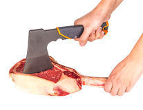 Prime rib steak cut. Prime rib steak isolated on white background Stock Image