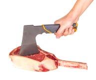 Prime rib steak cut. Prime rib steak isolated on white background Royalty Free Stock Image