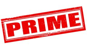 Prime. Stamp with word prime inside, vector illustration Stock Photography