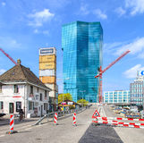 Prime Tower in Zurich, view from the Geroldstrasse street Royalty Free Stock Photos
