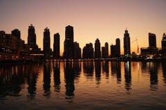 Prime viste dalla parte superiore del Burj Khalifa Immagine Stock