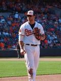 Primeira base Chris Davis dos Baltimore Orioles fotografia de stock