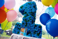 Primeira festa de anos do ano Imagens de Stock Royalty Free