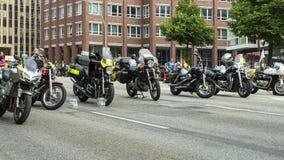 A primeira fileira no festival dos motociclistas MoGo 35 Foto de Stock
