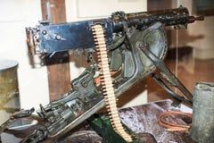 Primeira Guerra Mundial pesada metralhadora Fotos de Stock