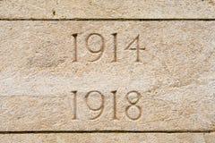 A Primeira Guerra Mundial Ypres Flander Bélgica de Bedford House Cemetery Fotografia de Stock Royalty Free