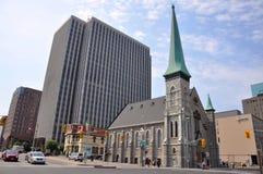 Primeira igreja baptista em Ottawa da baixa Fotos de Stock Royalty Free