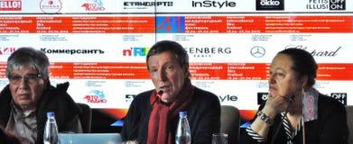 Primeira imprensa-confer?ncia oficial do 41st festival de cinema internacional de Moscou fotos de stock