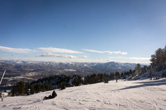 Primeira jornada em Snowbasin Foto de Stock Royalty Free