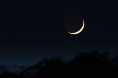 primeira lua crescente fotografia de stock