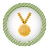 Primeira medalha do lugar award Medalha de ouro Fotografia de Stock Royalty Free