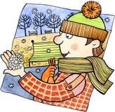 Primeira neve ilustração royalty free