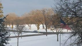 Primeira neve da estação imagens de stock