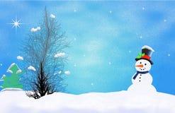 Primeira neve do inverno ilustração royalty free