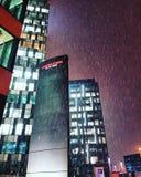 Primeira neve em Orhideea em Bucareste foto de stock royalty free