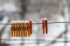 A primeira neve em outubro Fotos de Stock