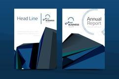 A4 primeira página geométrica, molde da cópia do informe anual do negócio ilustração royalty free