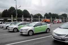 Primeira parada de Moscou do transporte da cidade Imagens de Stock Royalty Free