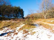 Primeira queda de neve em Fontecerro Rieti Itália Imagem de Stock Royalty Free