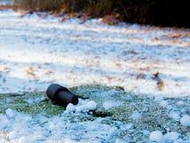 Primeira queda de neve em Fontecerro Rieti Itália Fotos de Stock