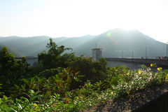 A primeira represa de múltiplos propósitos Bhumibol de Tailândia nomeou Fotografia de Stock