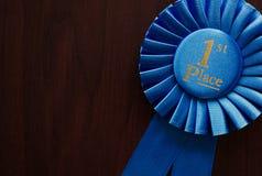 Primeira roseta dos vencedores do lugar Imagens de Stock Royalty Free