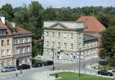 Primeira rua do tijolo em Varsóvia Fotos de Stock