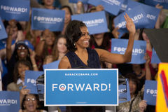 Primeira senhora Michelle Obama imagens de stock