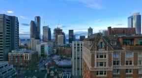 Primeira skyline do monte fotos de stock