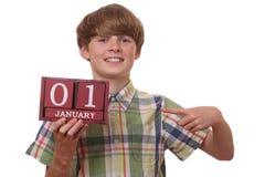 Primeiramente de janeiro imagem de stock