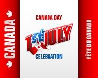 Primeiramente de julho, feriado nacional canadense, celebração Foto de Stock Royalty Free