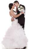 Primeiramente noiva e noivo da dança Imagem de Stock Royalty Free