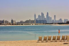 Primeiras vistas da parte superior do Burj Khalifa Foto de Stock Royalty Free