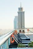 Primeiras vistas da parte superior do Burj Khalifa Fotografia de Stock Royalty Free