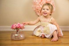 Primeiro aniversário Photoshoot Fotografia de Stock Royalty Free