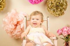 Primeiro aniversário Photoshoot Fotografia de Stock