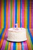 Primeiro bolo da celebração Imagens de Stock Royalty Free