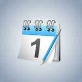 Primeiro calendário do dia ilustração stock