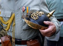 primeiro capacete da guerra mundial Imagens de Stock