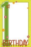 Primeiro cartão de aniversário ilustração royalty free
