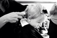 Primeiro corte de cabelo Imagens de Stock Royalty Free