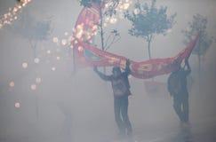 Primeiro de maio em Istambul, Turquia. Fotografia de Stock Royalty Free