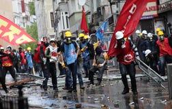 Primeiro de maio em Istambul, Turquia. Fotografia de Stock
