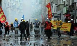 Primeiro de maio em Istambul, Turquia. Fotos de Stock