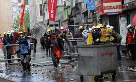 Primeiro de maio em Istambul, Turquia. Fotos de Stock Royalty Free