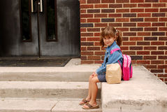 Primeiro dia da escola Foto de Stock Royalty Free