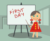 Primeiro dia na escola Fotos de Stock
