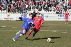 Primeiro liga de Bósnia - Velez v Borac Fotos de Stock